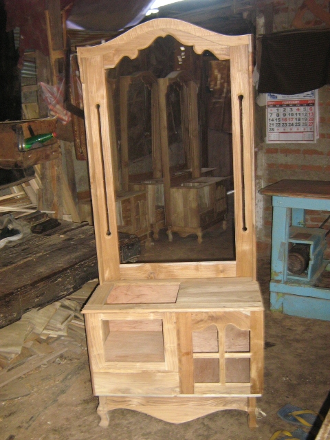 Teak Almirahs,dressing tables, beds from Moratuwa - SL